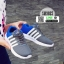 รองเท้าผ้าใบ ทรงสปอร์ต แต่งแถบข้าง SM9025-GRY [สีเทา] thumbnail 1