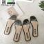 รองเท้าแตะ สไตล์Hermes ใส่ง่าย G-1402-BLK [สีดำ] thumbnail 5