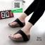 รองเท้าส้นเตารีดแบบสวมสีดำ เปิดส้น หูคีบ (สีดำ ) thumbnail 2