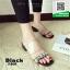 รองเท้าแตะผู้หญิงสีดำ pu ใส นิ่มไม่บาดเท้า (สีดำ ) thumbnail 1