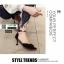 รองเท้าส้นสูง หัวแหลมแต่งอะไหล่ รัดข้อ 0926-BLACK [สีดำ] thumbnail 5