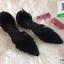 รองเท้าส้นเตี้ยรัดส้นสีดำ Ankle Strap Pointy Toe Flat (สีดำ ) thumbnail 2