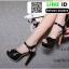 รองเท้าส้นสูงรัดข้อเปิดหน้าหลัง 18-1331-BLK [สีดำ] thumbnail 4