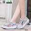 รองเท้าผ้าใบ แบบเสริมพื้นลายดอก W803-PNK [สีชมพู] thumbnail 3