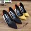 รองเท้าคัชชูส้นเข็ม ST8858-YEL [สีเหลือง] thumbnail 5
