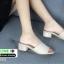 รองเท้าลำลองส้นเหลี่ยม หน้าสวม 523-CRE [สีครีม] thumbnail 3