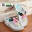 รองเท้าสายสุขภาพแต่งดอกไม้สวยงาม L2027-WHT [สีขาว] thumbnail 2