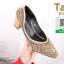 รองเท้าคัทชูหัวแหลมสีเทา แต่งกริตเตอร์ (สีเทา ) thumbnail 4