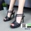 รองเท้าส้นสูงรัดส้น T-Strap G5276-BLK [สีดำ] thumbnail 2
