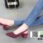 รองเท้าส้นสูงรัดส้น คริสตัล 850-5-MRN [สีม่วง] thumbnail 4