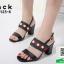 รองเท้าส้นสูงรัดส้นสีดำ สไตล์ GUCCI (สีดำ )