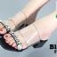 รองเท้าแตะผู้หญิงสีดำ pu ใส นิ่มไม่บาดเท้า (สีดำ ) thumbnail 3