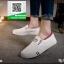 รองเท้าผ้าใบแฟชั่นสีขาว แบบสวม ขอบแบบยืดได้ (สีขาว ) thumbnail 3