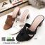 รองเท้าแตะสไตล์H ส้นเหลี่ยม J331-ดำ [สีดำ] thumbnail 2