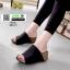รองเท้าส้นเตารีดหน้าเต็ม 960-15-ดำ [สีดำ] thumbnail 1
