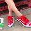 รองเท้าผ้าใบแฟชั่นสีแดง ผ้าแคนวาส ทรง VANS (สีแดง ) thumbnail 3