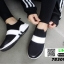 รองเท้าผ้าใบลายช้าง 7B309-BLK [สีดำ] thumbnail 2
