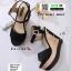 รองเท้าส้นเตารีดรัดส้น 17-5154-BLK [สีดำ] thumbnail 2
