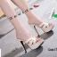 รองเท้าส้นสูงสวมสไตล์แบรนด์ดัง 17-2314-CRM [สีครีม] thumbnail 3