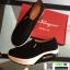 รองเท้าผ้าใบ งานใหม่ล่าสุด feragamo 9392-41-BLK [สีดำ] thumbnail 5