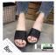 รองเท้าส้นเตารีด หน้าสวม กากเพชร 1902-BLK [สีดำ] thumbnail 4