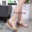 รองเท้าสไตล์รัดส้นงาน สายคาดหน้า 18-1339-CREAM [สีครีม]
