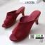 รองเท้าส้นสูงหน้าเต็ม พื้น pu หนังลื่นๆ 2303-แดง [สีแดง] thumbnail 2