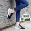 รองเท้าผ้าใบ ทรงสปอร์ต แต่งแถบข้าง SM9025-BLK [สีดำ] thumbnail 2