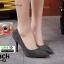 รองเท้าคัชชูทรงหัวแหลมงานผ้าวิ้งๆ 688-52-BLK [สีBLK]