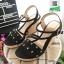 รองเท้าเตารีด แต่งหน้ามุกสีทอง 15198-BLACK [สีดำ] thumbnail 4