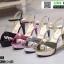 รองเท้าส้นสูงรัดข้อเปิดท้าย ST208-PNK [สีชมพู] thumbnail 4