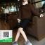 รองเท้าบูทเกาหลีสีเทา หนังวัวนิ่ม บุขน (สีเทา ) thumbnail 3