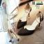 รองเท้าส้นสูงแบบหัวแหลม แต่งกลิตเตอร์ 519-ดำ [สีดำ] thumbnail 3