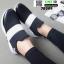 รองเท้าผ้าใบลายช้าง 7B309-BLK [สีดำ] thumbnail 4