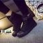 รองเท้าผ้าใบหุ้มข้อนำเข้า สไตล์เกาหลี YZB-059-BLK [สีดำ] thumbnail 1