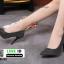 รองเท้าคัชชูทรงหัวแหลมงานผ้าวิ้งๆ 688-52-BLK [สีBLK] thumbnail 3