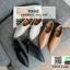 รองเท้าส้นเตี้ยเปิดส้น สุดชิค งานเก๋ แต่งสีเรียบ G-1299-BWN [สีน้ำตาล] thumbnail 4