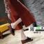 รองเท้าลำลองส้นเตารีด หน้าห่วง 1809-2-BLK [สีดำ] thumbnail 3