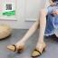รองเท้าคัทชูส้นตันสีแทน หนังนิ่ม ทรงสวย (สีแทน ) thumbnail 1
