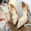 รองเท้าส้นสูงแบบหัวแหลม แต่งกลิตเตอร์ 519-ทอง [สีทอง] thumbnail 3