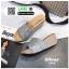 รองเท้าส้นเตารีด หน้าสวม กากเพชร 1902-SIL [สีเงิน] thumbnail 5
