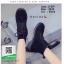 รองเท้าบูทสีดำ ankle boot สไตล์ Dr.Martin (สีดำ ) thumbnail 4