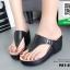 รองเท้าเตารีดเปิดส้นสีดำ หูคีบ (สีดำ ) thumbnail 4