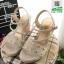 รองเท้าเตารีด แต่งหน้ามุกสีทอง 15198-GRAY [สีเทา] thumbnail 3