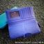 กระเป๋าสตางค์ผู้หญิง ใบยาวสวยงาม สีน้ำเงินสด หนังวัวแท้แสนนุ่ม ทนทาน โดนน้ำได้ ไม่ลอกร่อน พร้อมกล่องแบรนด์แท้ Moonlight thumbnail 6