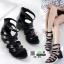 รองเท้าส้นสูงแบบมีสายรัด สไตล์chanel 33-45-BLK [สีดำ] thumbnail 2