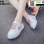 รองเท้าผ้าใบแฟชั่นเปิดท้าย ST613-RED [สีแดง] thumbnail 3