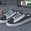 รองเท้าผ้าใบแฟชั่นเปิดท้าย ST509-BLK [สีดำ] thumbnail 3