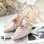 รองเท้าส้นสูงกากเพชรนำเข้า AMG-0003-GLD [สีทอง] thumbnail 5