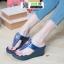 รองเท้าส้นเตารีด งานเพื่อสุขภาพ 6135-BLUE [สีน้ำเงิน] thumbnail 1
